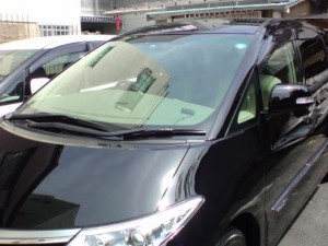 トヨタ エスティマ フロントガラス修理(リペア)