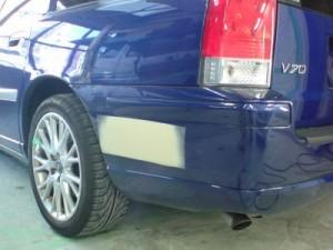 ボルボ V70 リアバンパ板金塗装修理