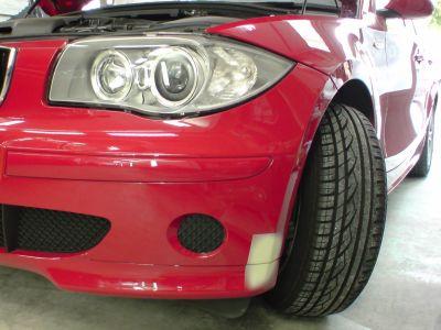 BMW 116ⅰ フロントバンパ 板金塗装修理