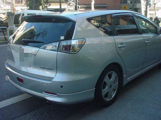 トヨタ カルディナ 右リアフェンダ(クォータ)板金塗装修理