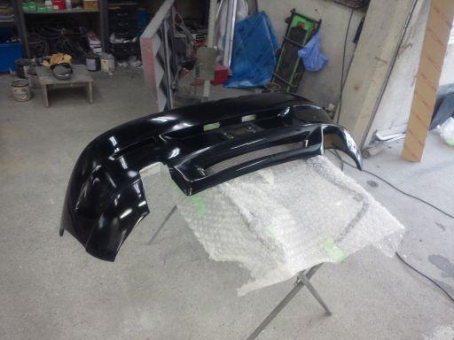 アルファロメオ147 社外リアバンパ塗装修理
