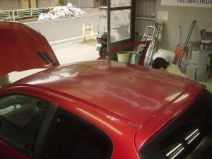 プジョー 206 ボンネット ルーフ(屋根) 板金塗装修理
