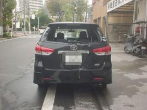 トヨタ ウィッシュ リアゲート・リアガラス・リアバンパ取替・バックパネル板金塗装修理