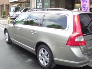 ボルボ V70 左リアドア・リアフェンダ(クォータ)板金塗装修理