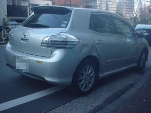 トヨタ ブレイド 右リアドア・リアフェンダ(クォータ)板金塗装修理
